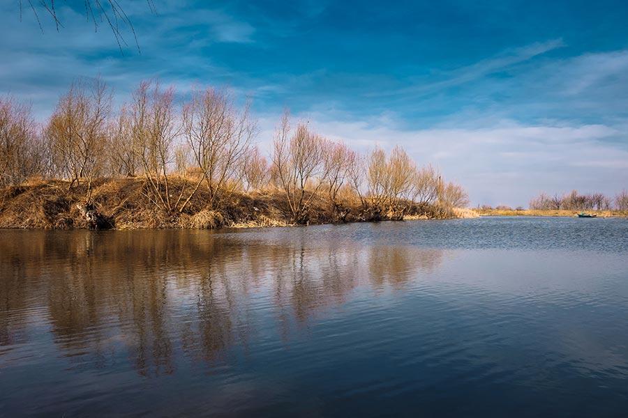 Peisaj de toamna in Delta Dunarii